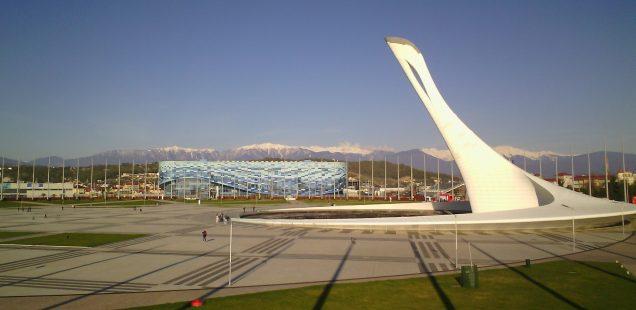 Torche olympique à Sotchi