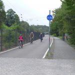 RS1 following the railway tracks at Muelheim