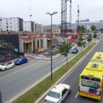 RS1 passing above the Segerothstrasse, Essen