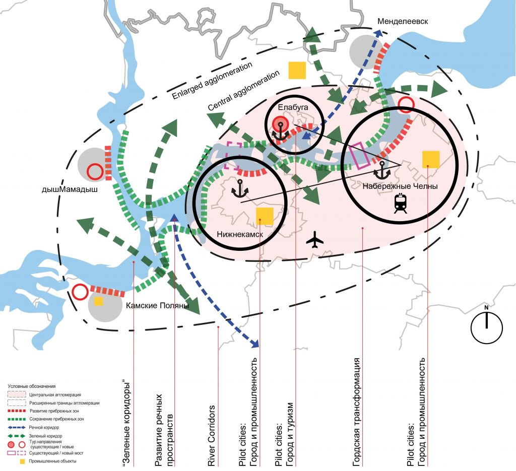 Spatial development concept of the Kama agglomeration