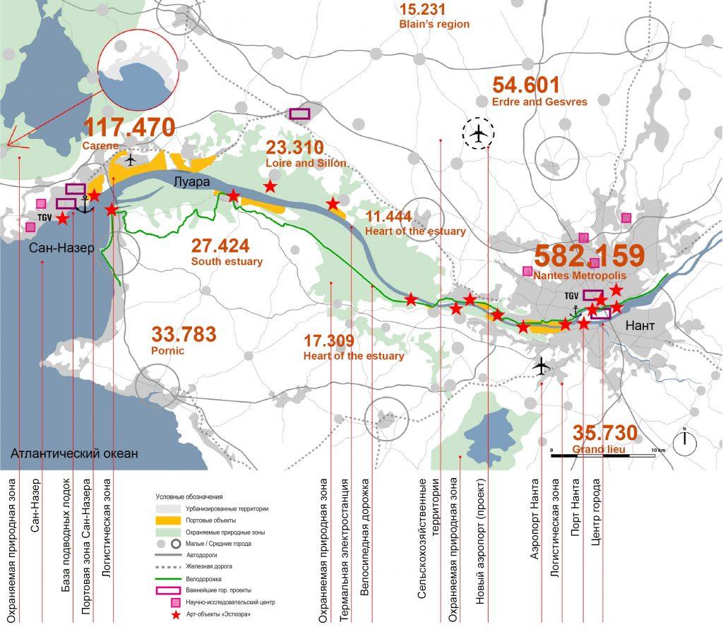 Spatial development map of Nantes Saint Nazaire