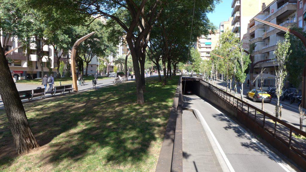Rambla del Brasil in Barcelona