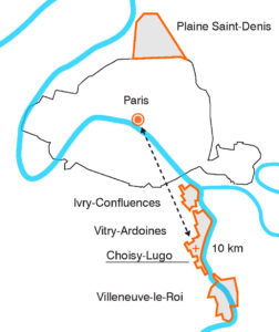 Location of the regeneration areas along the Seine