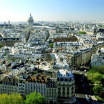 View from the tower of Notre-Dame de Paris on the Sainte Geneviève mountain