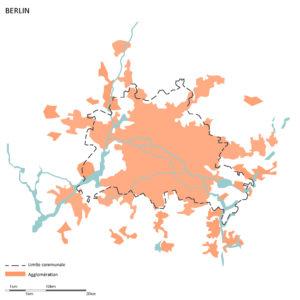 Limite communale et limite d'agglomération de Berlin