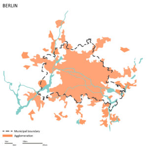 The city of Berlin and its agglomeration