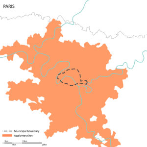 The city of Paris and its agglomeration
