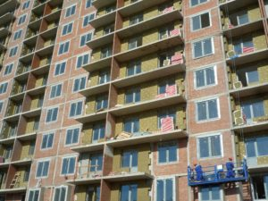 Thermal insulation of buildings in the Baltic Pearl project in Saint Petersburg