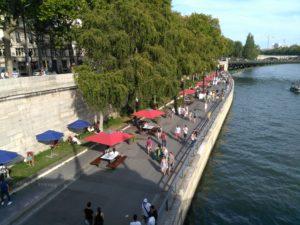 Former Seine river expressway, now a promenade