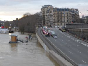 Flooding of the river Seine in Paris in 2018