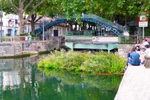 Green raft in Paris