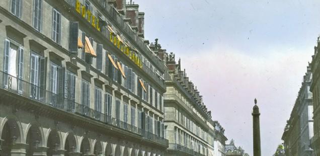 View on Rue de Castiglione looking at the Place Vendôme in Paris 1900