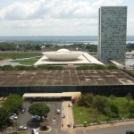 National assembly in Brasilia, Brazil, by Oscar Niemeyer