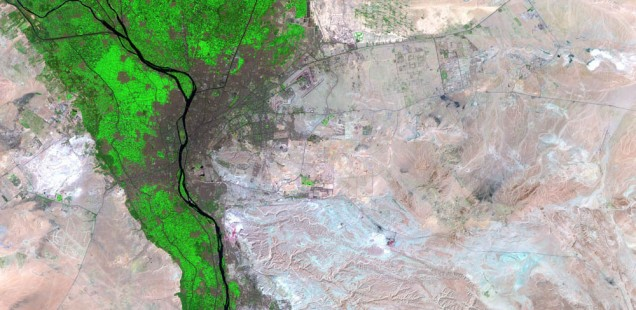Satellite view of the Cairo agglomeration