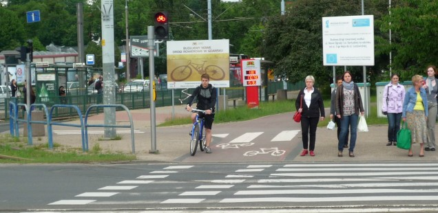 New bicycle lanes in Gdansk
