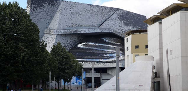 View on the Philharmonie in Paris