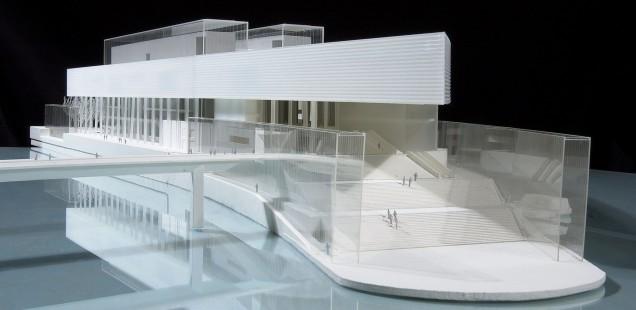 Modell der Fondation Pinault von Tadao Ando